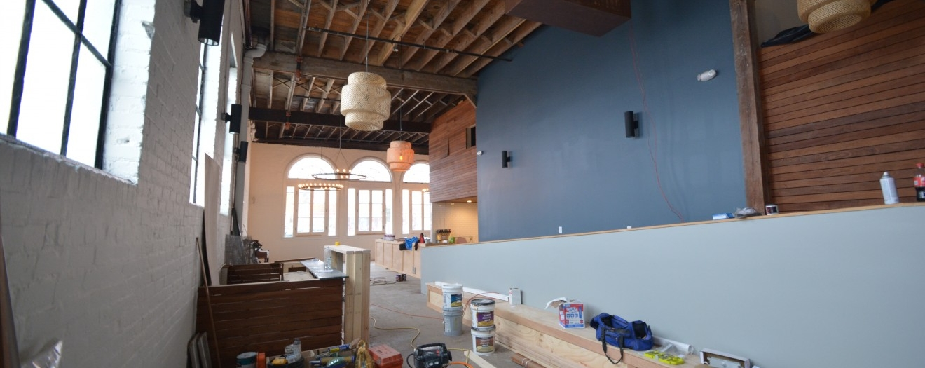 Interior of lobby - under construction